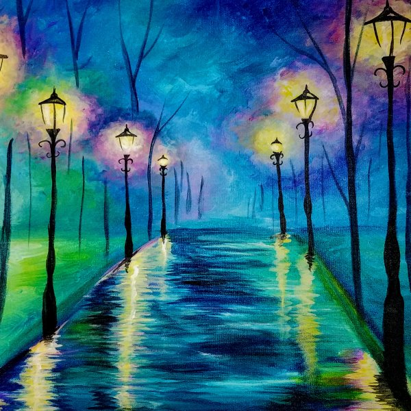 Canvas Painting Class on 10/09 at Muse Paintbar Ridge Hill