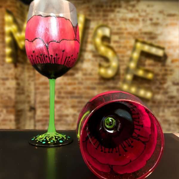 Glassware Painting Event on 02/12 at Muse Paintbar Lynnfield