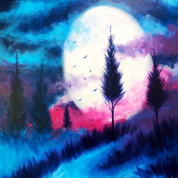 Canvas Painting Class At Muse Paintbar Ridge Hill