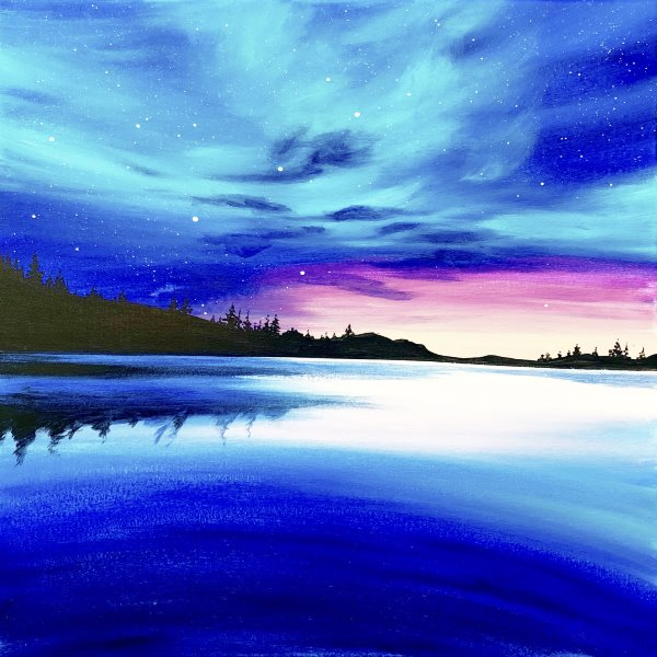 Canvas Painting Class on 06/06 at Muse Paintbar Portland