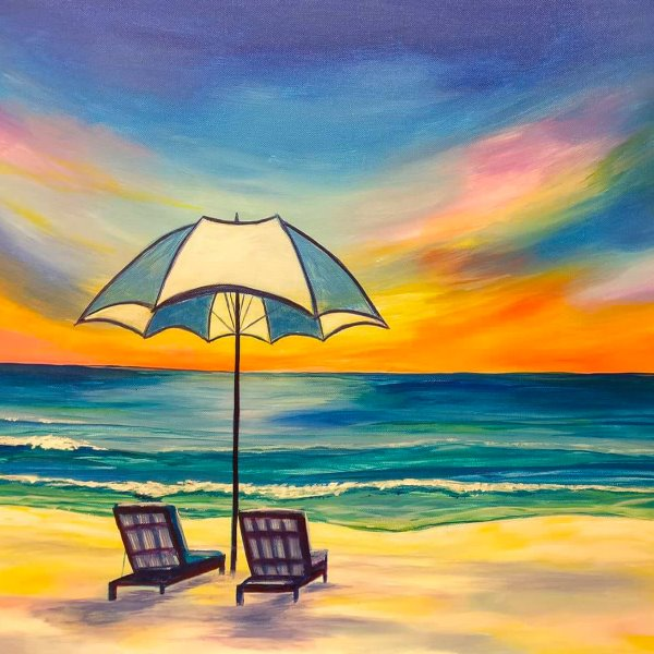 Canvas Painting Class on 06/12 at Muse Paintbar NYC - Tribeca
