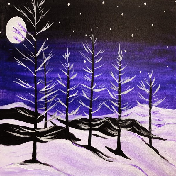Canvas Painting Class on 01/24 at Muse Paintbar Hingham Shipyard