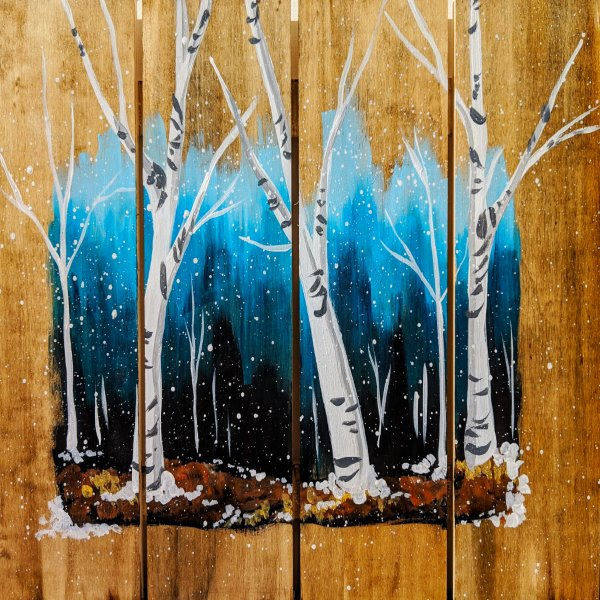 Wooden Sign Painting on 01/18 at Muse Paintbar Glastonbury