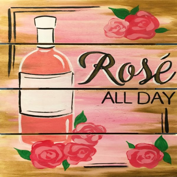 Wooden Sign Painting on 02/11 at Muse Paintbar Fairfax (Mosaic)