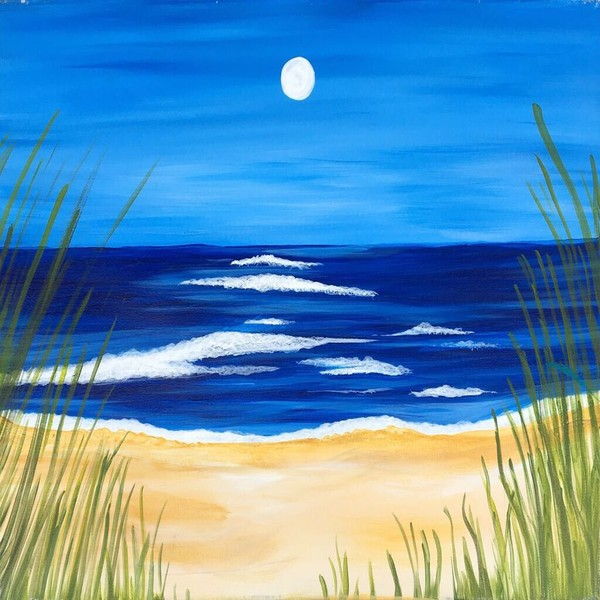 Canvas Painting Class on 08/09 at Muse Paintbar Virginia Beach