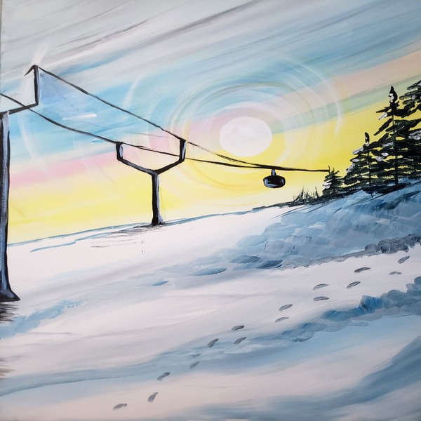 Canvas Painting Class on 02/23 at Muse Paintbar Ridge Hill