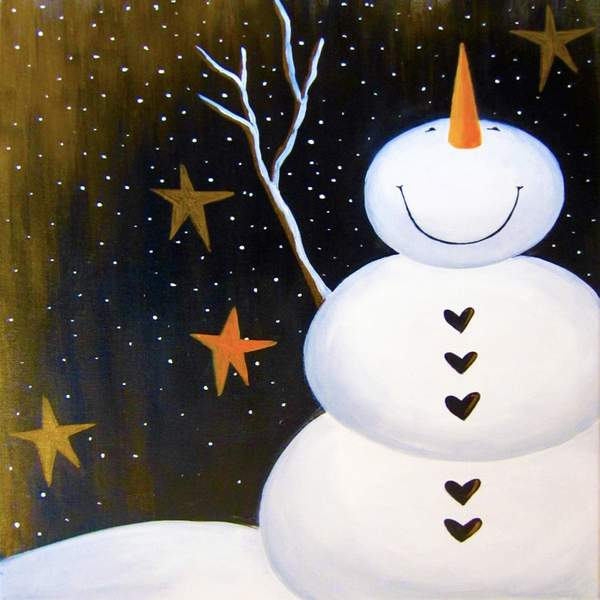 Canvas Painting Class on 12/29 at Muse Paintbar Norwalk