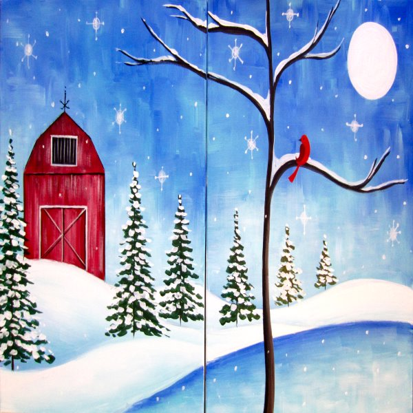 Couple's Paint Night on 12/28 at Muse Paintbar Assembly Row