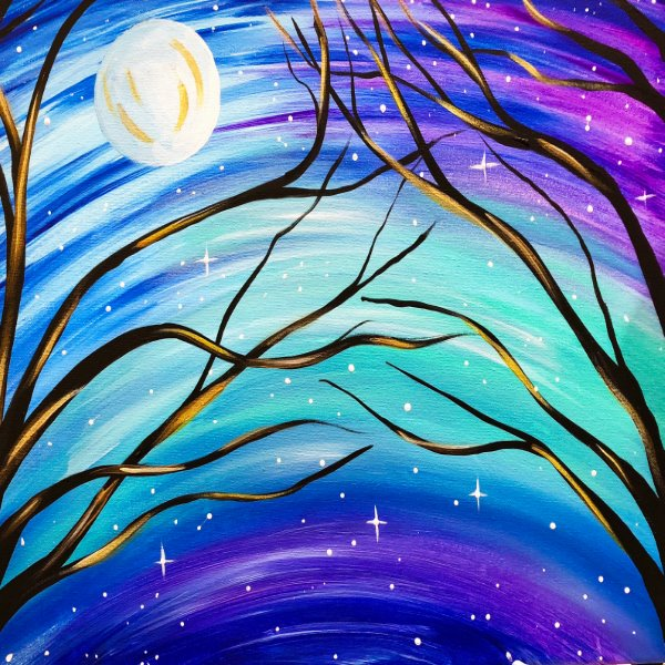 Canvas Painting Class on 12/13 at Muse Paintbar Lynnfield