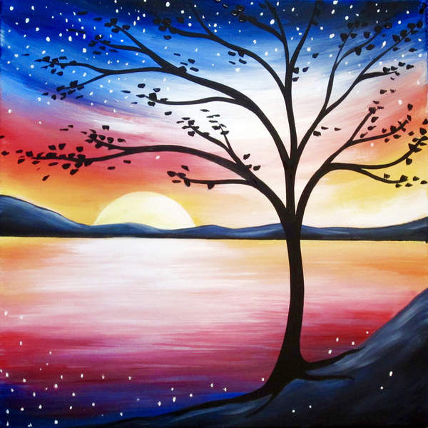 Canvas Painting Class on 07/06 at Muse Paintbar Lynnfield