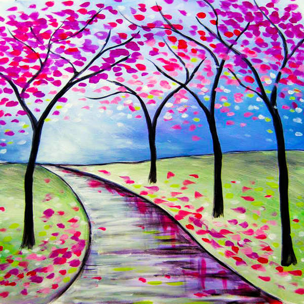 Canvas Painting Class on 02/21 at Muse Paintbar Norwalk