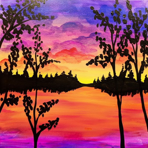 Canvas Painting Class on 03/01 at Muse Paintbar Ridge Hill