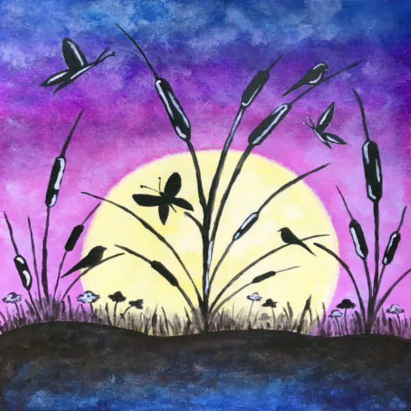 Canvas Painting Class on 07/21 at Muse Paintbar Virginia Beach