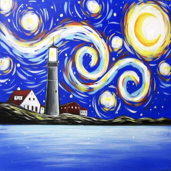 Canvas Painting Class on 03/29 at Muse Paintbar Lynnfield