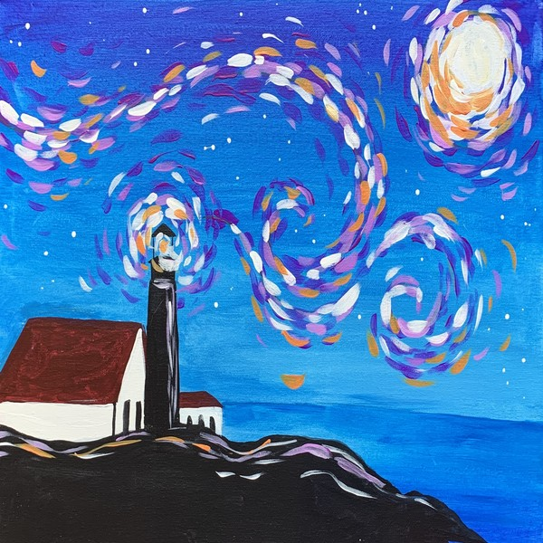 Canvas Painting Class on 03/06 at Muse Paintbar West Hartford
