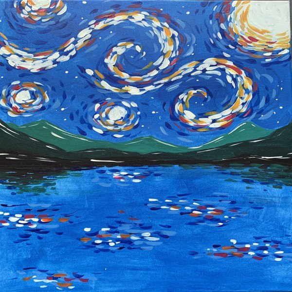 Canvas Painting Class on 03/06 at Muse Paintbar Richmond