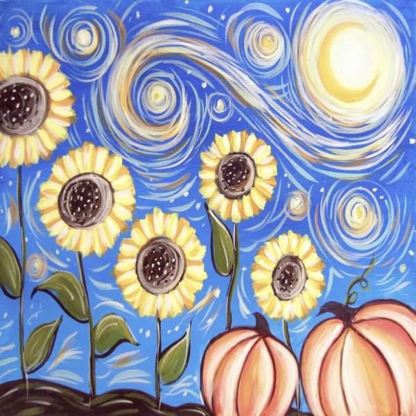 Canvas Painting Class on 09/24 at Muse Paintbar Glastonbury