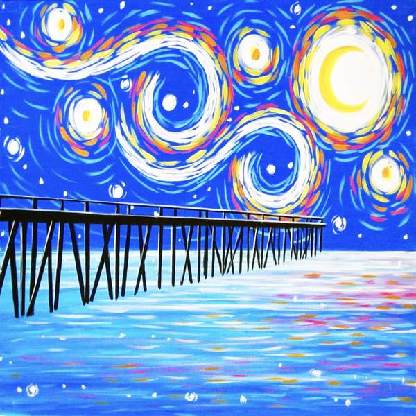 Canvas Painting Class on 03/30 at Muse Paintbar Port Jefferson