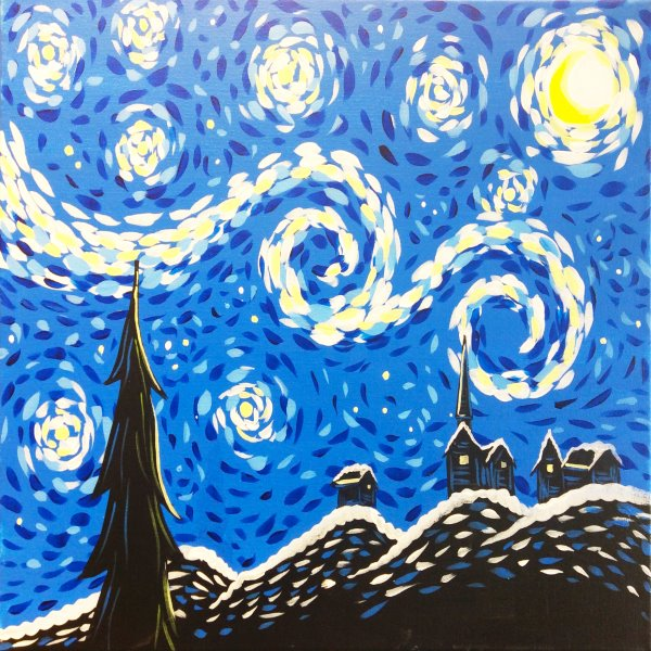 Canvas Painting Class on 01/30 at Muse Paintbar Gaithersburg