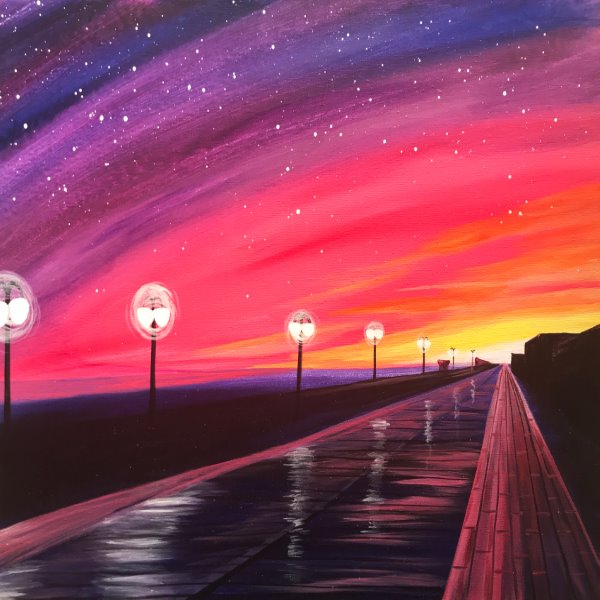 Canvas Painting Class on 07/17 at Muse Paintbar Manchester