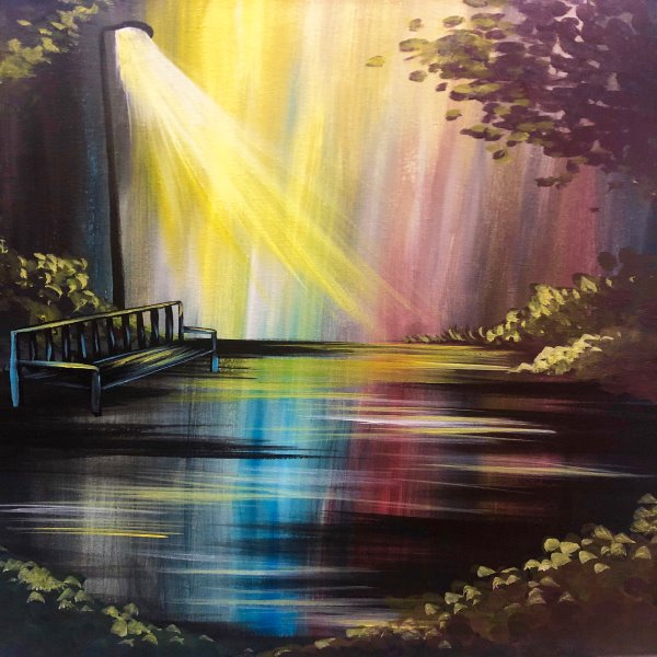 Canvas Painting Class on 06/19 at Muse Paintbar Glastonbury
