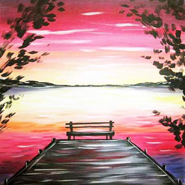 Canvas Painting Class on 02/23 at Muse Paintbar Great Neck