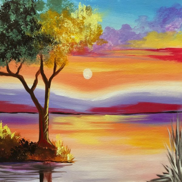 Canvas Painting Class on 11/06 at Muse Paintbar Marlborough