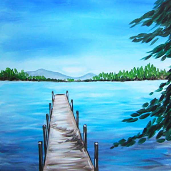 Canvas Painting Class on 07/01 at Muse Paintbar NYC - Tribeca