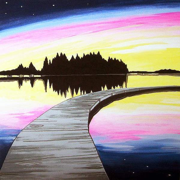 Canvas Painting Class on 06/02 at Muse Paintbar National Harbor