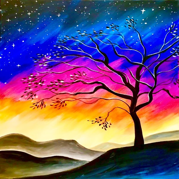Canvas Painting Class on 03/29 at Muse Paintbar Great Neck