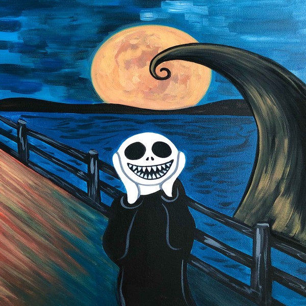 Canvas Painting Class on 10/24 at Muse Paintbar Ridge Hill