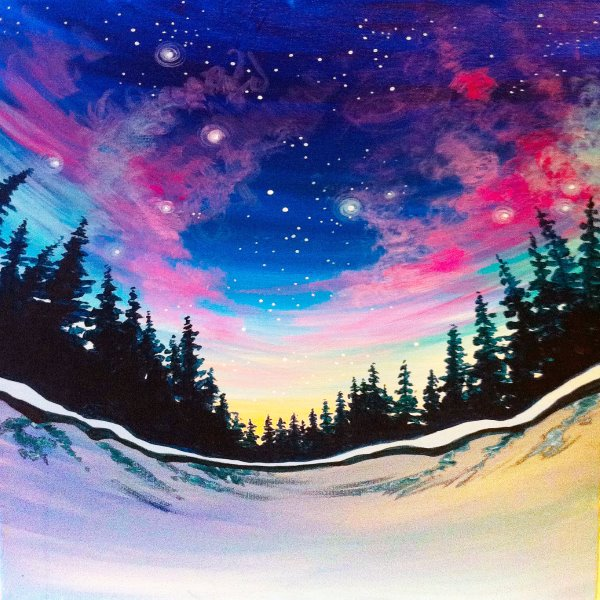 Canvas Painting Class on 12/26 at Muse Paintbar Woodbridge