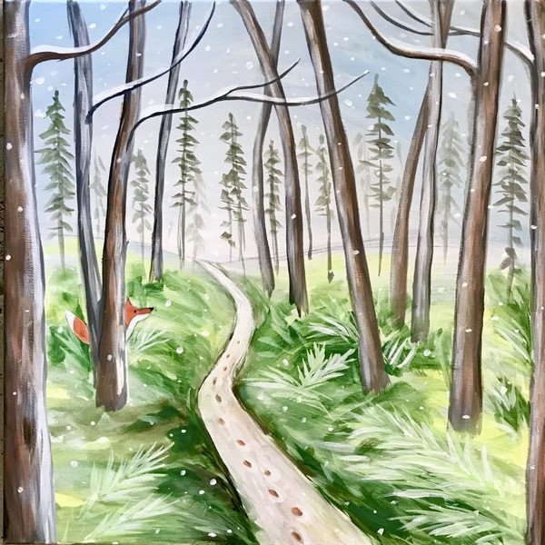 Canvas Painting Class on 02/21 at Muse Paintbar Milford