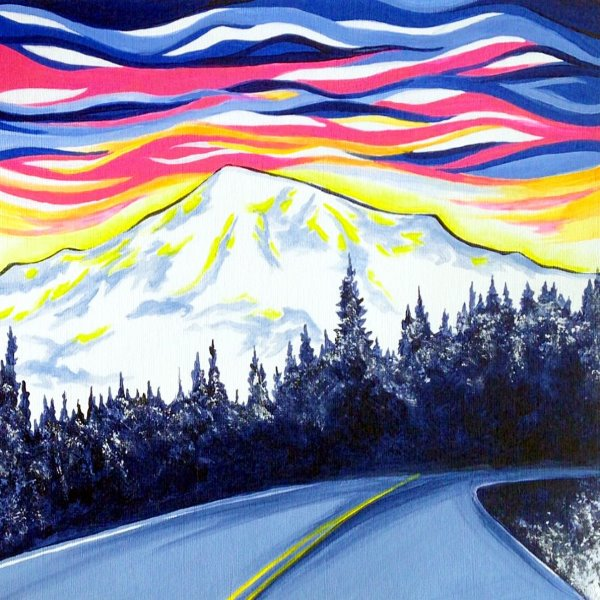 Canvas Painting Class on 02/20 at Muse Paintbar Norwalk