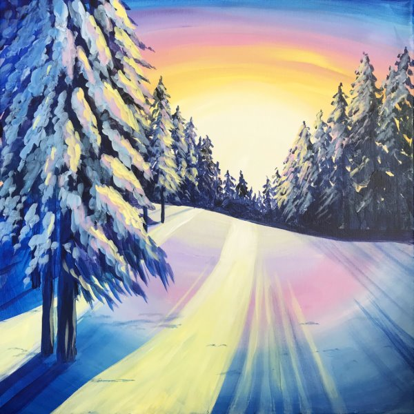 Canvas Painting Class on 12/21 at Muse Paintbar Glastonbury