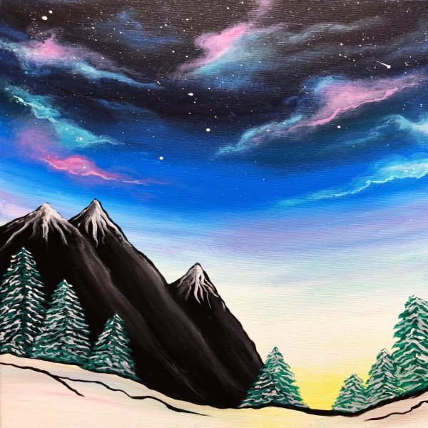 Canvas Painting Class on 01/26 at Muse Paintbar Hingham Shipyard