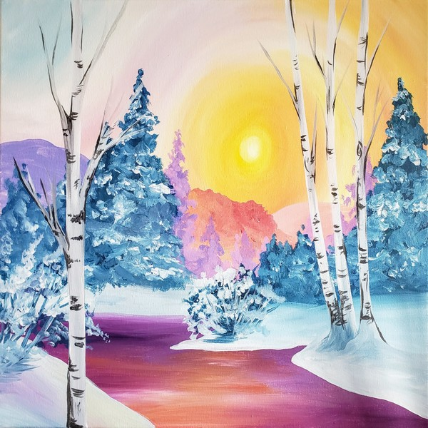 Canvas Painting Class on 12/27 at Muse Paintbar Glastonbury