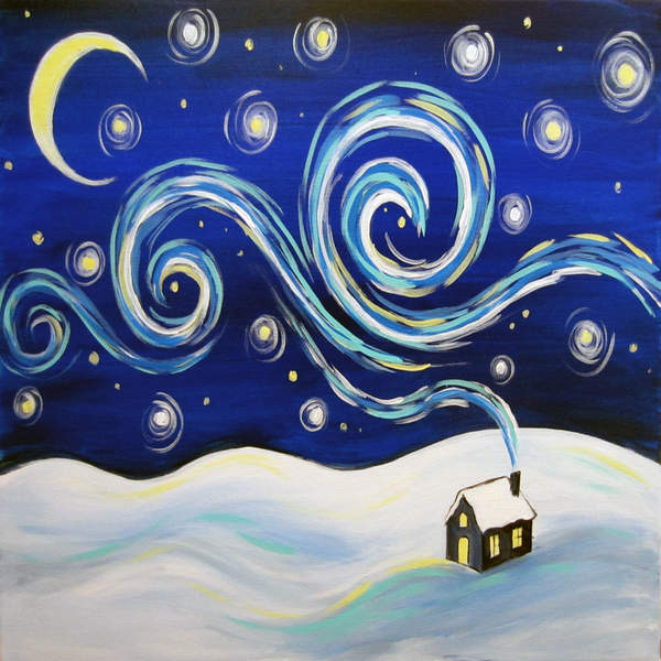 Canvas Painting Class on 12/23 at Muse Paintbar Annapolis