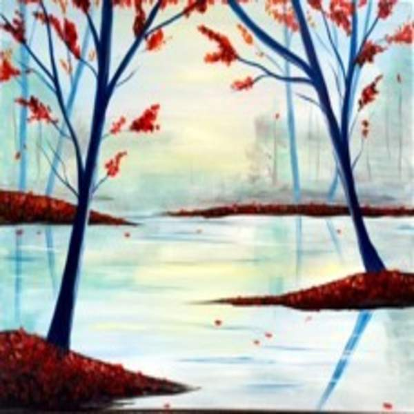 Canvas Painting Class on 10/26 at Muse Paintbar Portland