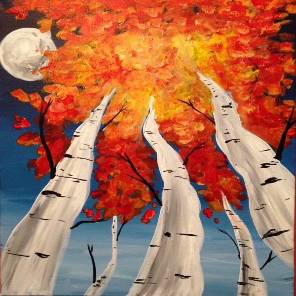 Canvas Painting Class on 10/30 at Muse Paintbar Portland