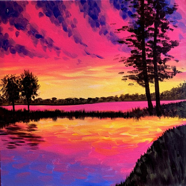 Canvas Painting Class on 08/30 at Muse Paintbar Virginia Beach