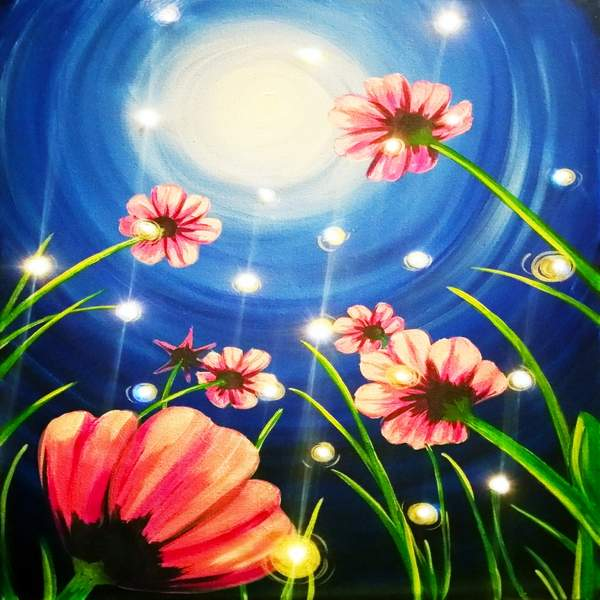 LED Canvas Painting on 09/25 at Muse Paintbar Glastonbury