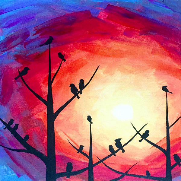 Canvas Painting Class on 11/18 at Muse Paintbar Fairfax (Mosaic)