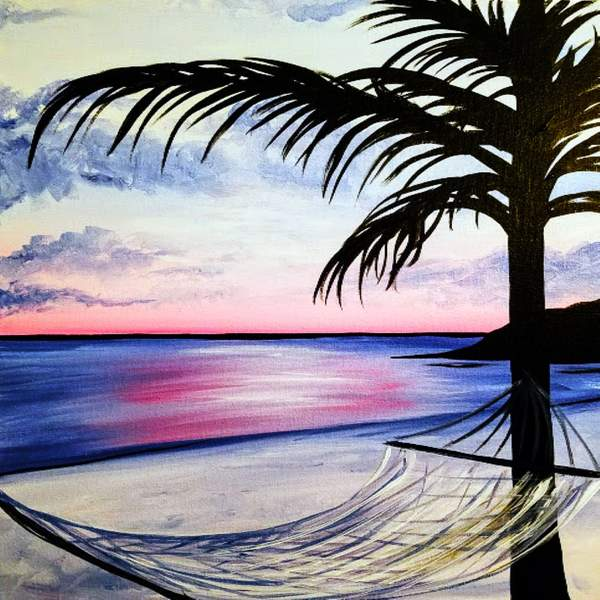 Canvas Painting Class on 07/09 at Muse Paintbar Owings Mills