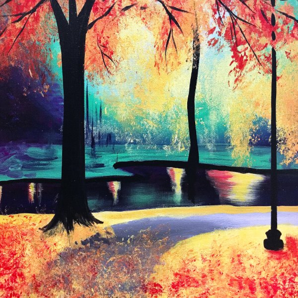 Canvas Painting Class on 10/20 at Muse Paintbar Patriot Place