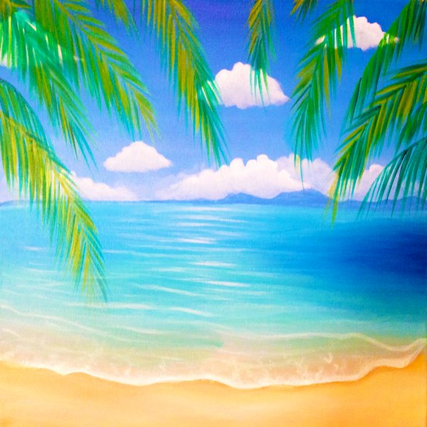 Canvas Painting Class on 08/21 at Muse Paintbar Norwalk
