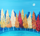 Canvas Painting Class on 09/27 at Muse Paintbar Woodbridge