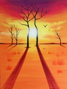 Canvas Painting Class on 10/01 at Muse Paintbar Glastonbury