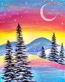 Canvas Painting Class on 12/11 at Muse Paintbar National Harbor