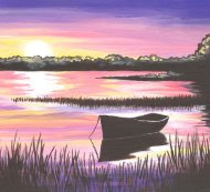 Canvas Painting Class on 09/15 at Muse Paintbar Gaithersburg
